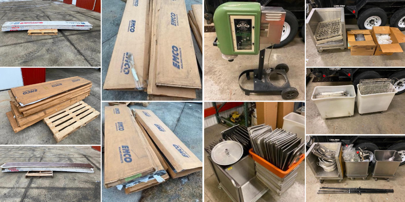 Industrial Kitchen Supplies, Building Material, Vehicles and more!