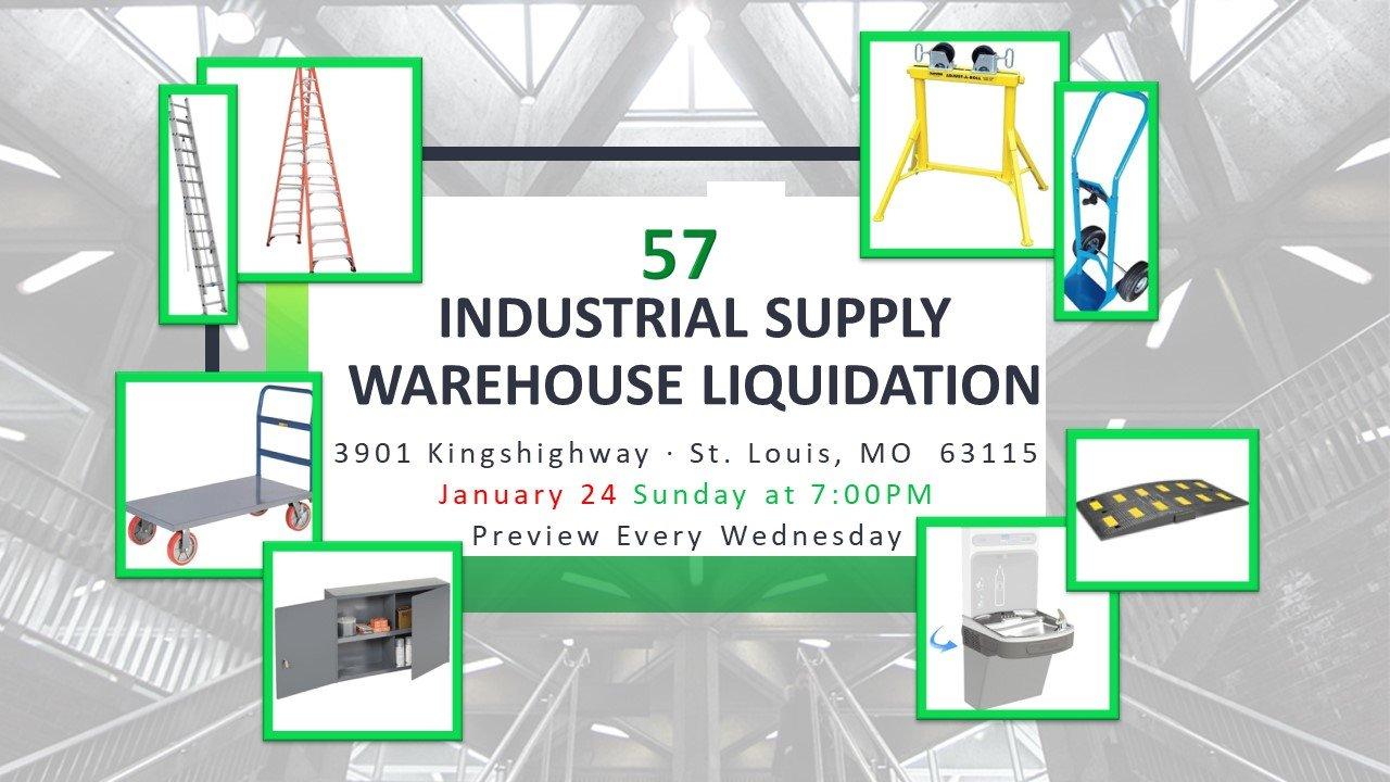 Industrial Supply Warehouse Liquidation #57