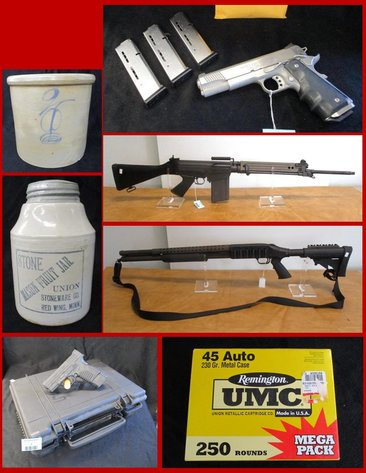 Firearms, Stoneware, Ammo & Antiques (blue tag)