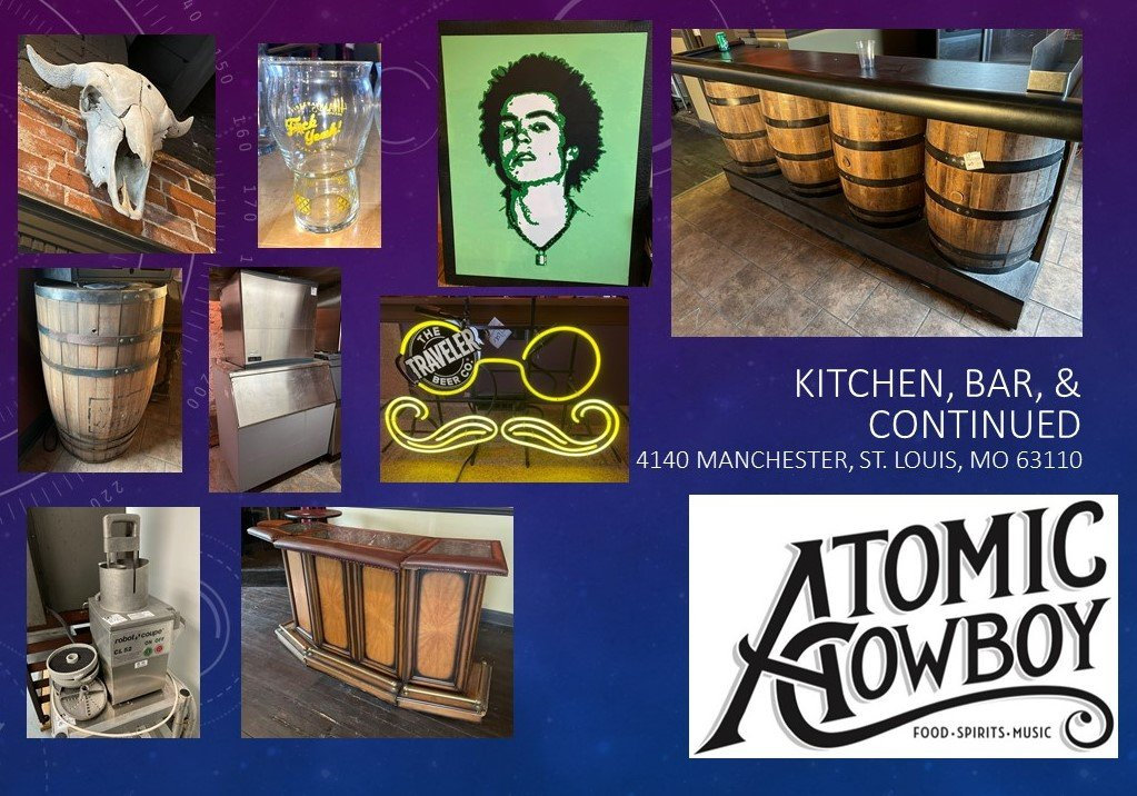 Atomic Cowboy - Auction #2 - Kitchen & Bar Continued!