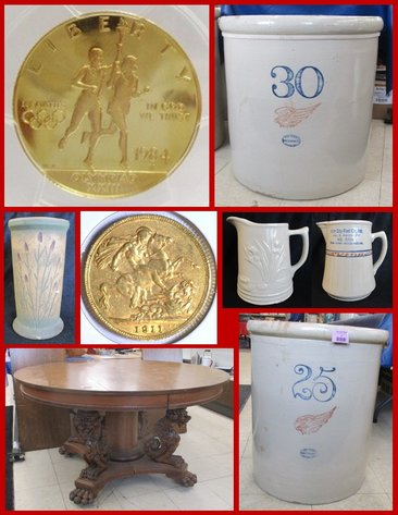 Stoneware, Gold, Silver, Antiques & Collectibles (Purple Tag)