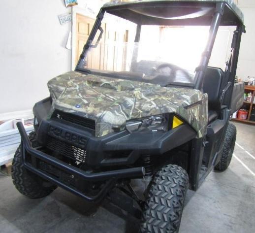 (4) Campers, 2015 & 2019 UTV's, 2003 GMC Plow Truck, & Vehicles