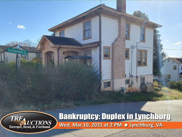 Bankruptcy Auction: Duplex in Lynchburg