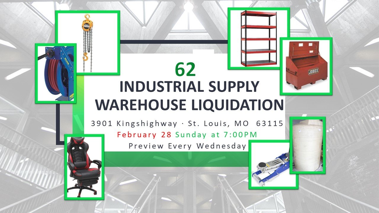Industrial Supply Warehouse Liquidation #62