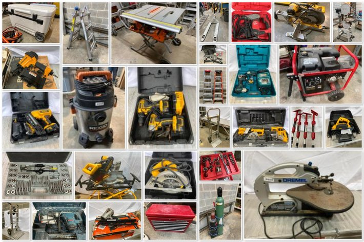 Construction & Building Tools Online Only Auction