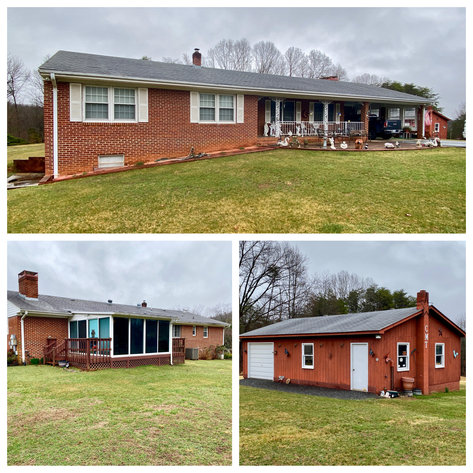 3 BR/3 BA Brick Home on 2 +/- Acres w/Detached Garage/Work Shop in Nelson County, VA
