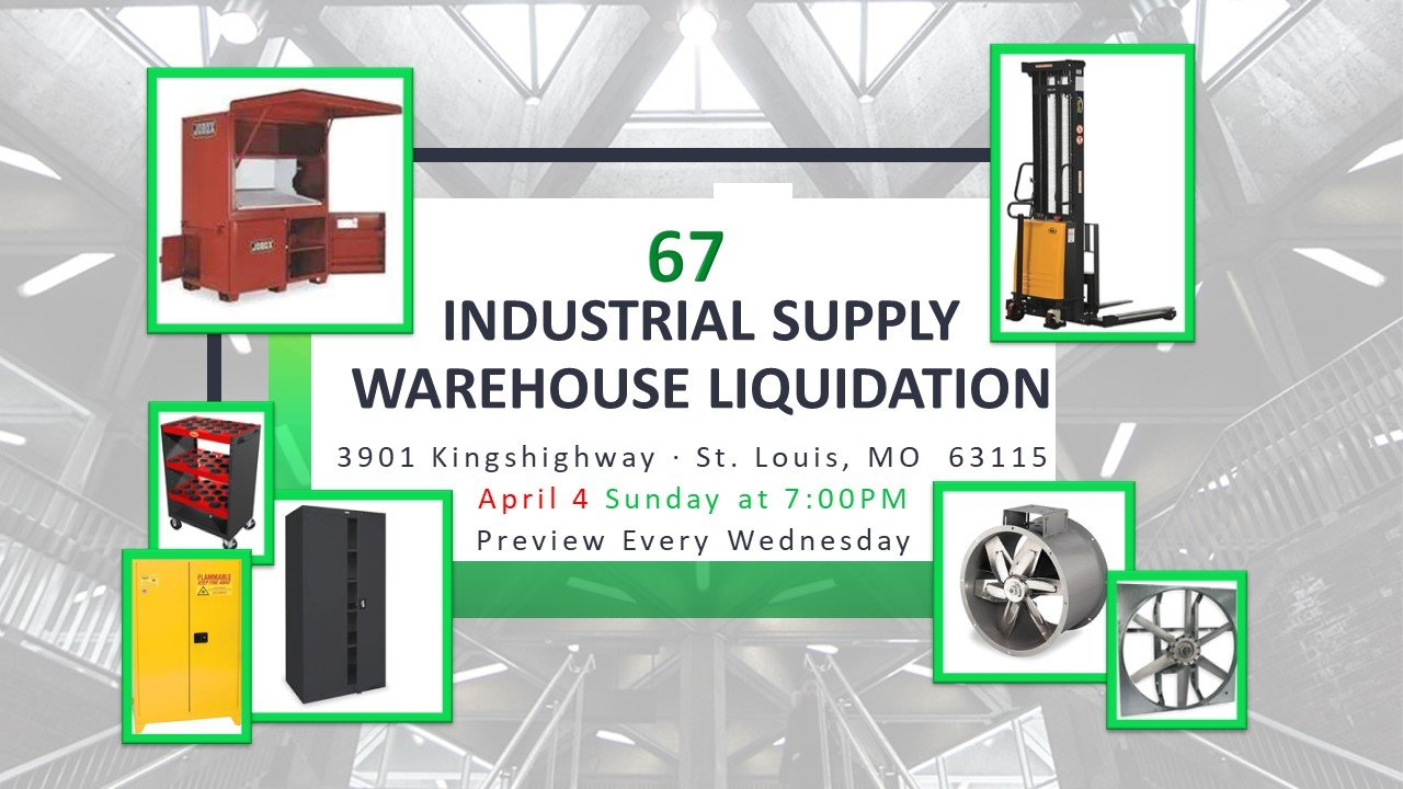 Industrial Supply Warehouse Liquidations #67