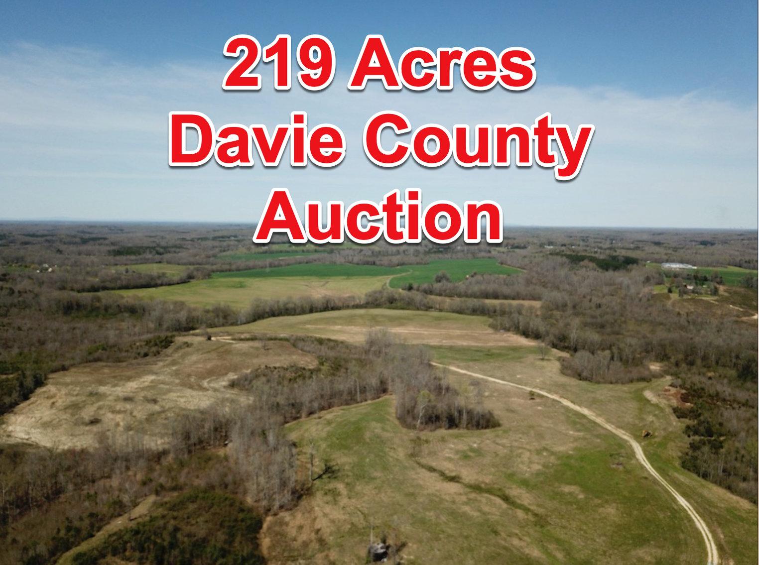 219.67+/- Acres - Davie County