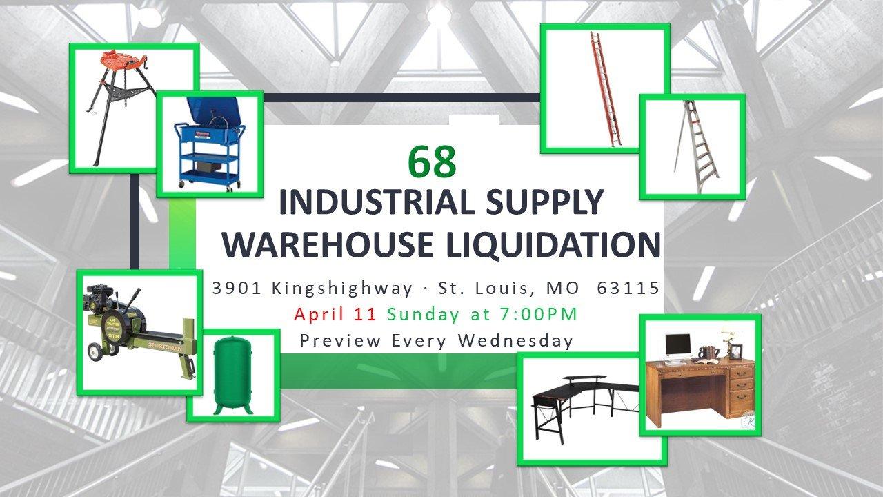 Industrial Supply Warehouse Liquidation #68