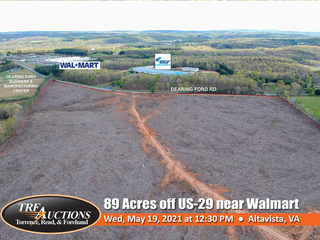 89 Acres off US-29 near Walmart