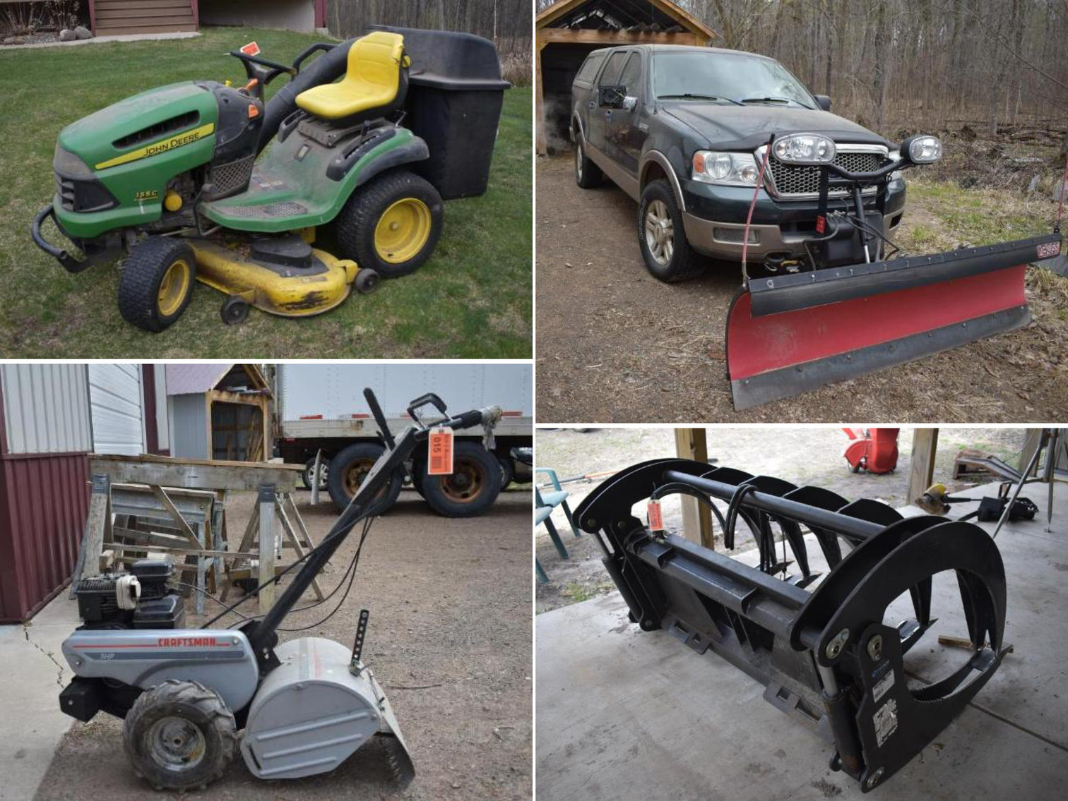Downsizing: 2004 Ford F-150 With Plow, Lawn and Garden, Grapple Bucket & More