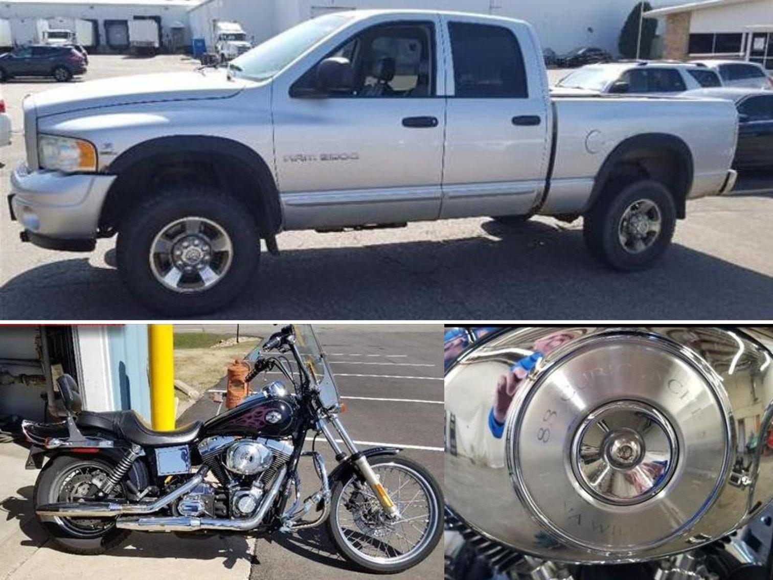 2004 Dodge Ram 2500 Quad Cab & 2005 Harley Davidson Wide Glide