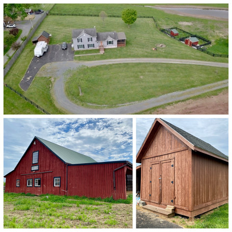 4 BR/2.5 BA Home on 20+ Acres w/Large Barn, Outbuildings, Fencing & More!--Culpeper County, VA