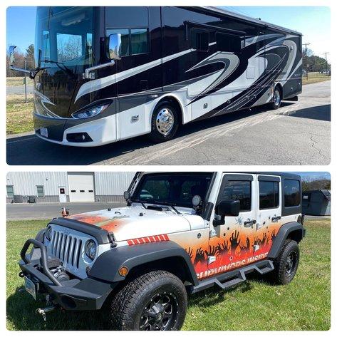 2016 Phaeton 40QBH Motor Home & 2017 Jeep Wrangler