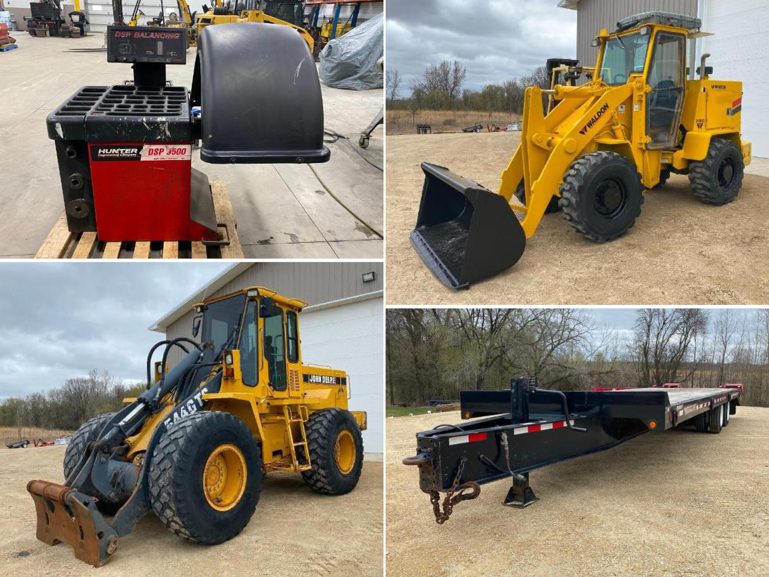 Payloaders, Forklifts, Manlifts, Trailers, Trucks, Cars, Tools & Equipment
