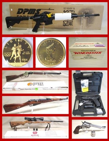 Firearms, Ammo, Sporting & Coins