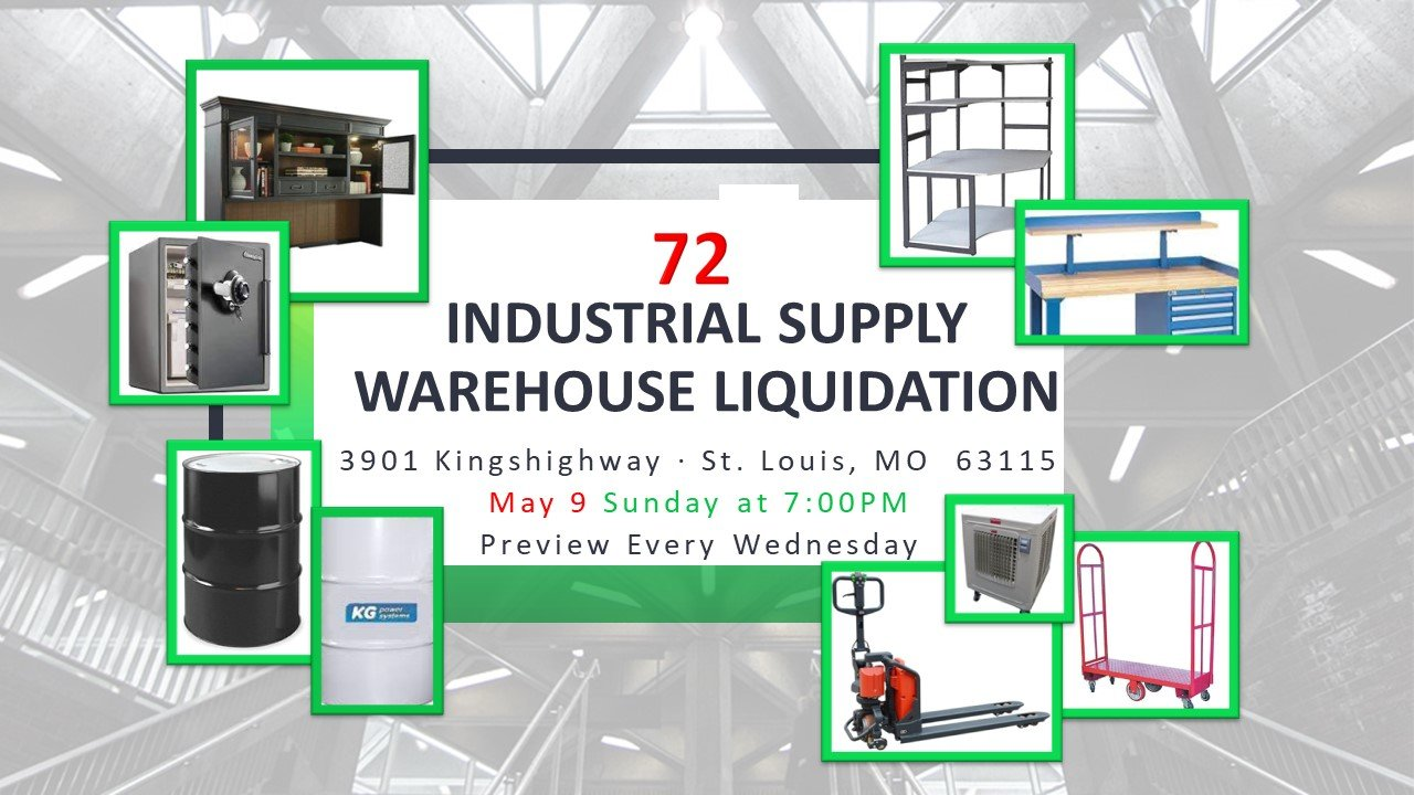 Industrial Supply Warehouse Liquidation #72