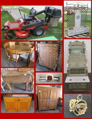 May Outdoor, Primitives and Antiques (yellow tag)