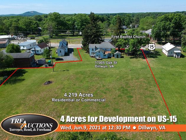4.2 Acres on US-15 in Dillwyn