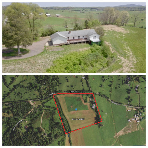 3 BR/3.5 BA Home on 21 +/- Acres w/Blue Ridge Mountain Views in Madison County, VA--SELLS to the HIGHEST BIDDER!!