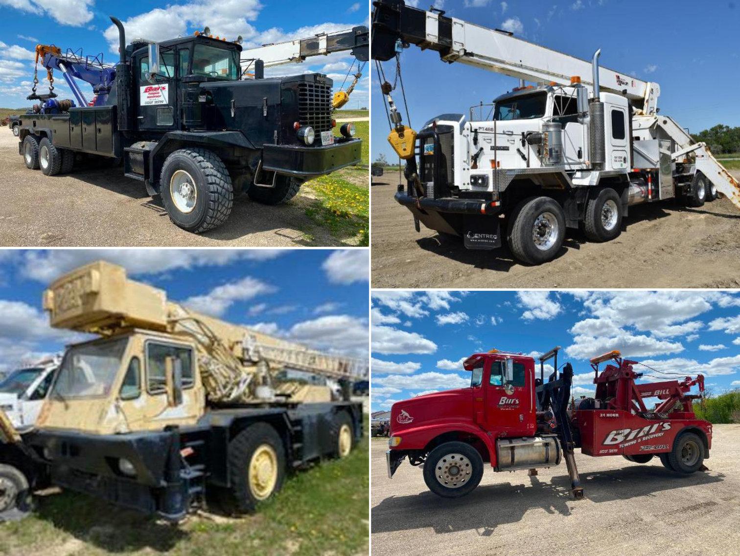 (3) Heavy Haul Trucks, (2) Cranes and Equipment