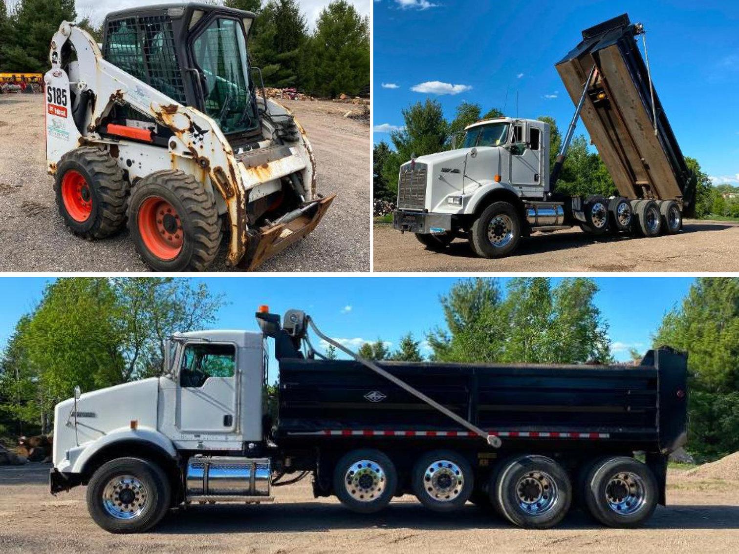 2012 Kenworth T800 Quad Axle Dump Truck, 2013 Bobcat S185 Skid Loader