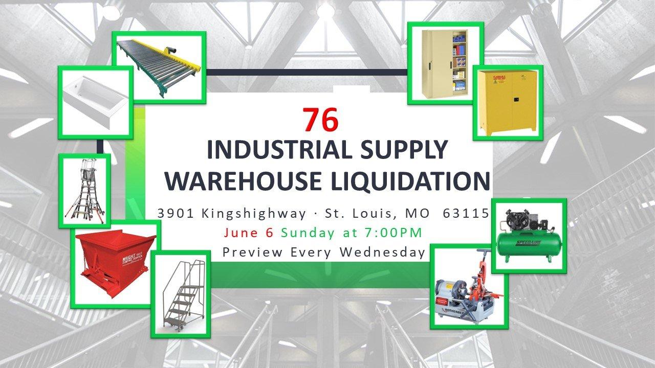 Industrial Supply Warehouse Liquidation #76
