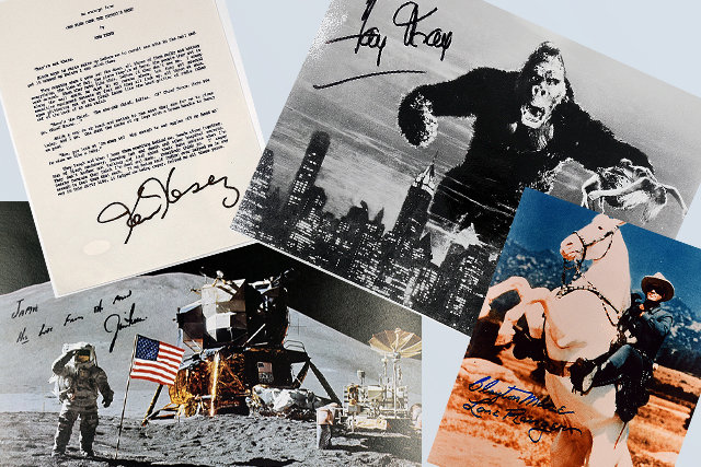 A Collection of Autographed Celebrity Photos