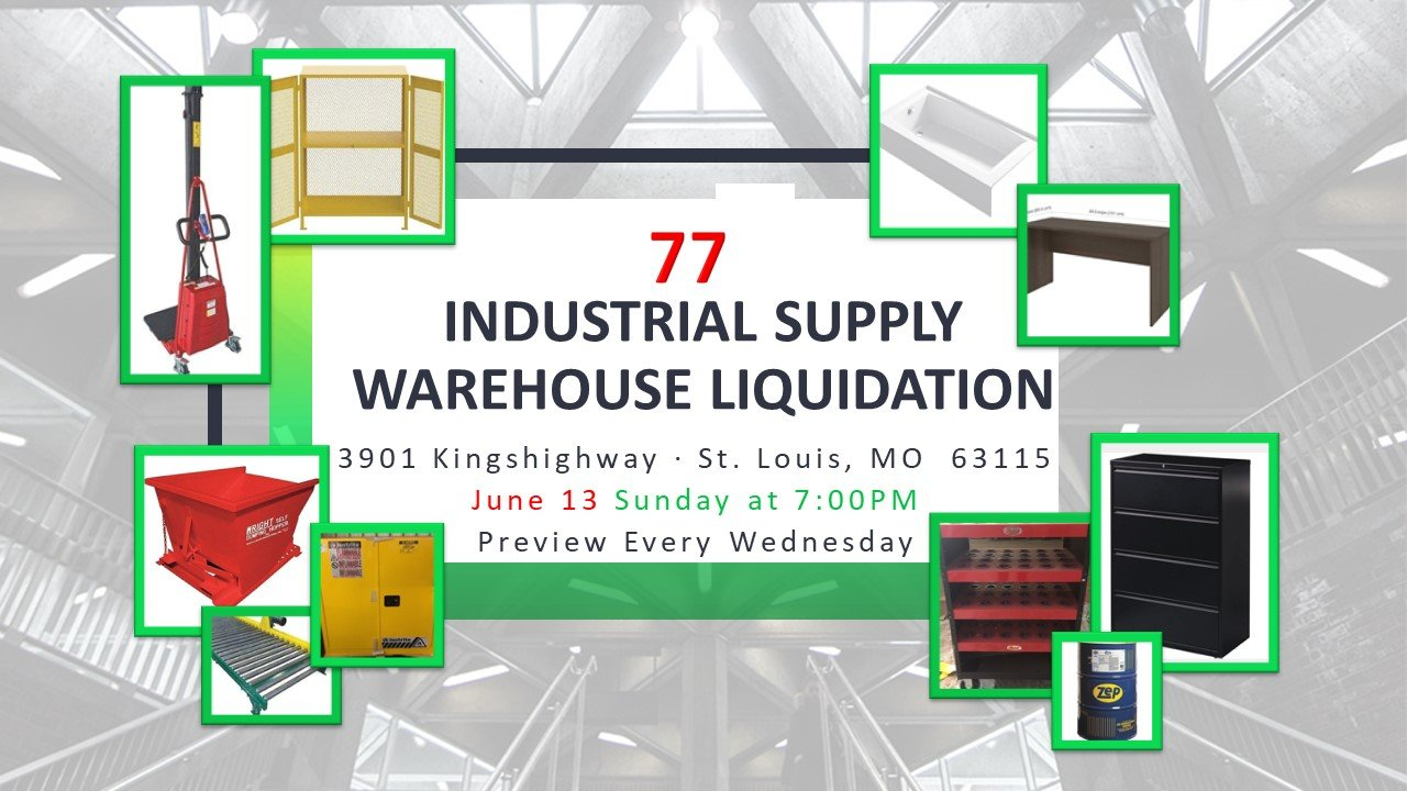 Industrial Supply Warehouse Liquidation #77