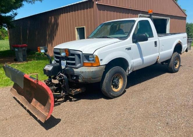 Farm Machinery, Cat D8 Dozer, (2) ATV's, 1999 Ford F-350 With Hinkler Plow
