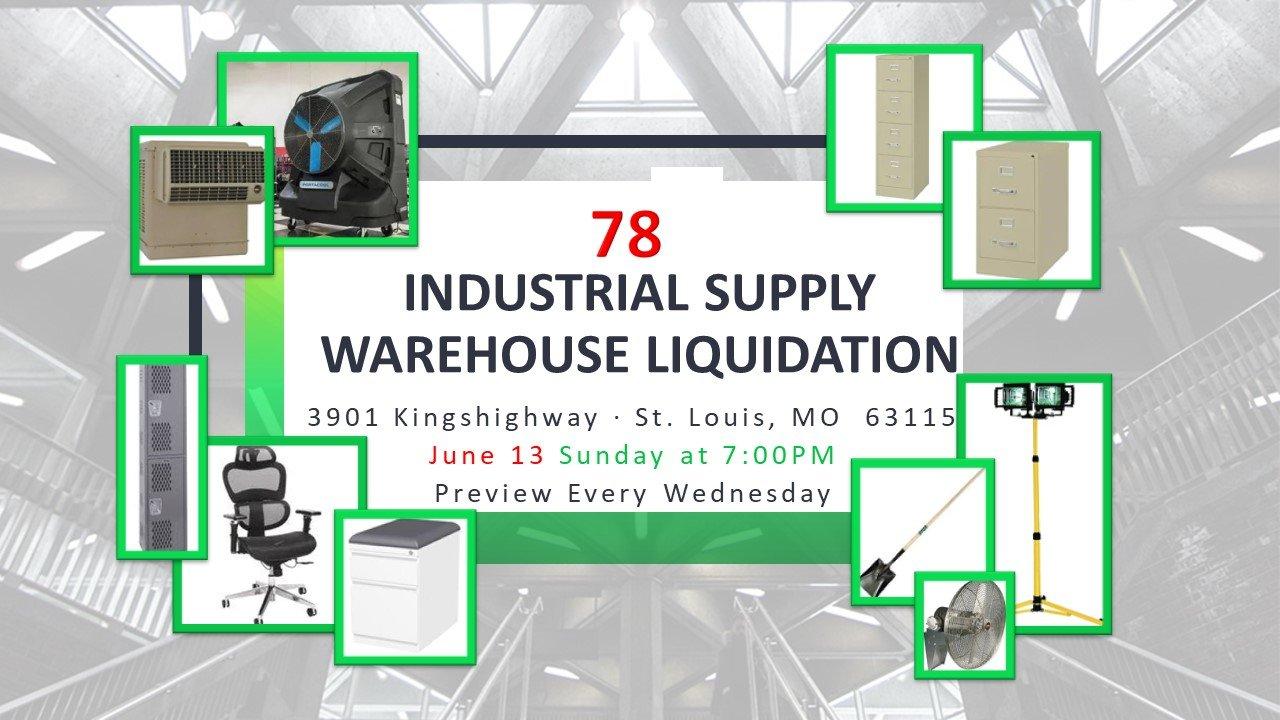 Industrial Supply Warehouse Liquidation #78