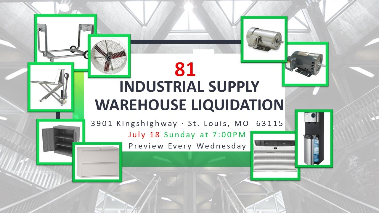 Industrial Supply Warehouse Liquidation #81