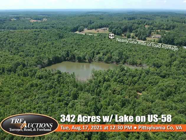342 Acres on US-58 near Danville
