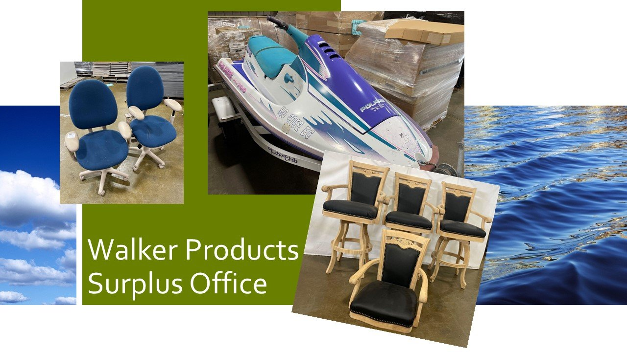 Walker Products Surplus Auction Wave Runner and Office
