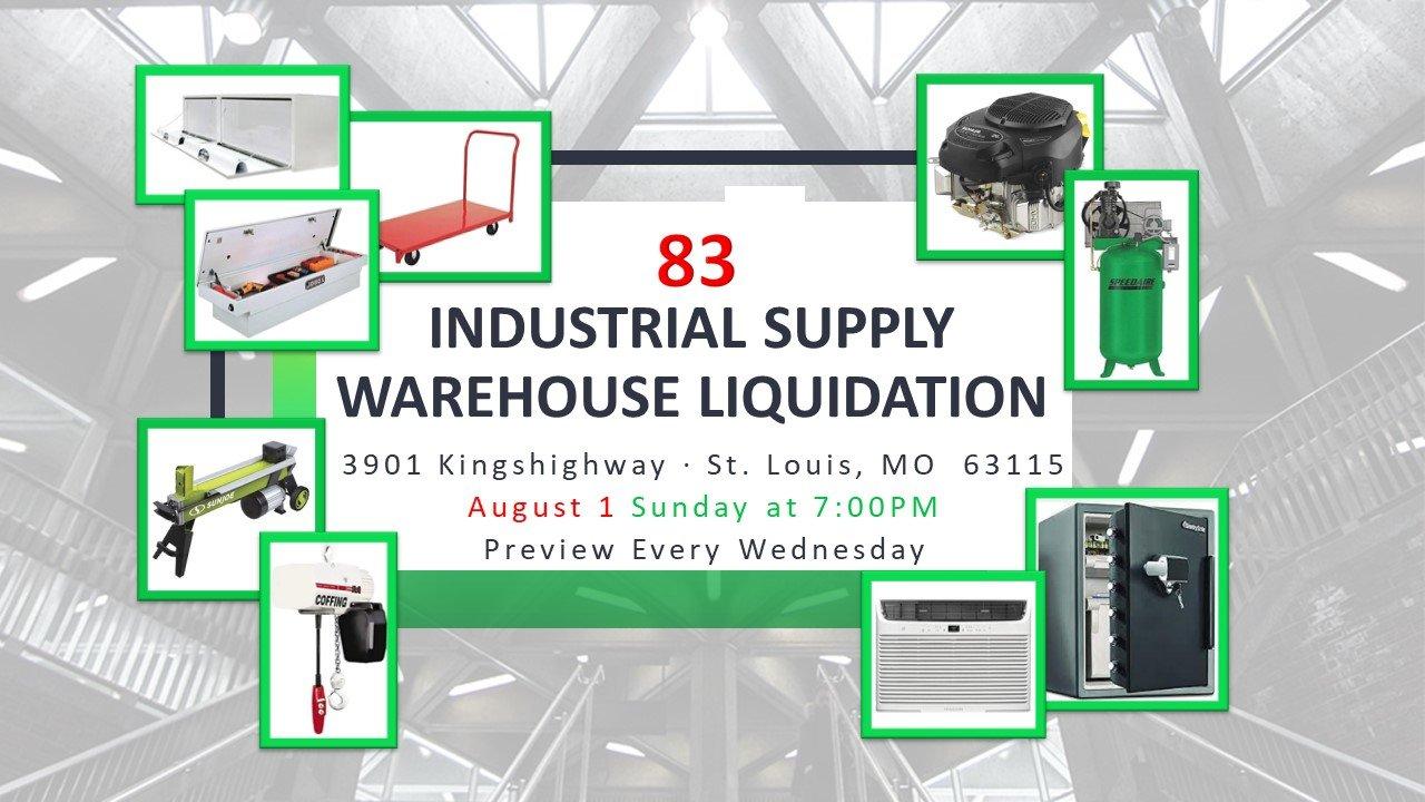 Industrial Supply Warehouse Liquidation #83
