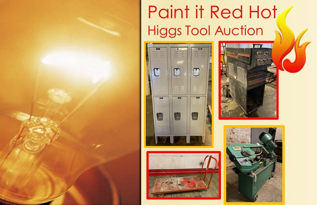 Paint it RED Hot - Higgs Tool Auction
