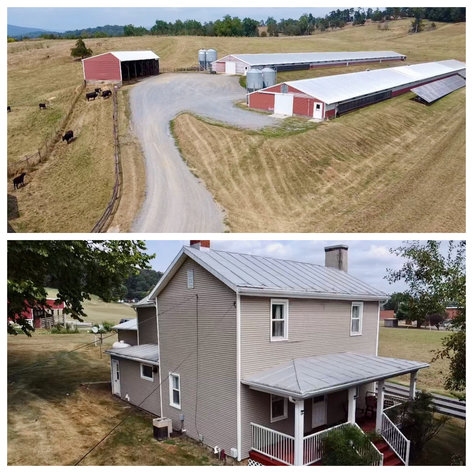 47.9 +/- Acre Farm w/2 Poultry Houses, Multiple Barns/Outbuildings, 4 BR/1 BR Home, 2 Wells, Fencing & More!!--Rockingham County, VA
