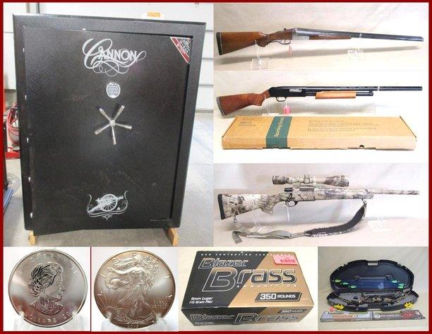 Firearms, Ammunition, Gun Safe & Silver