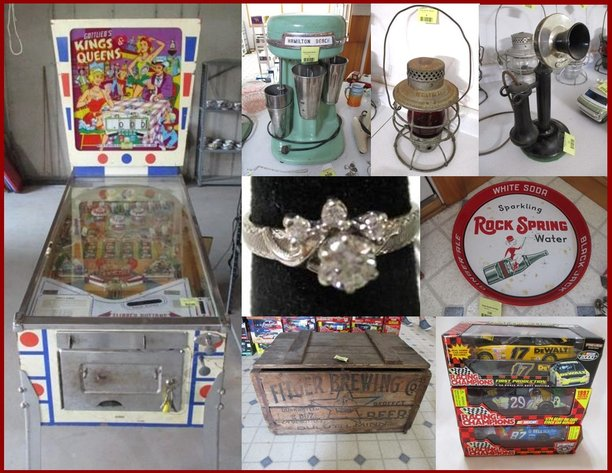 Nascar, RR Lanterns, Antiques, Beer Signs & Collectibles