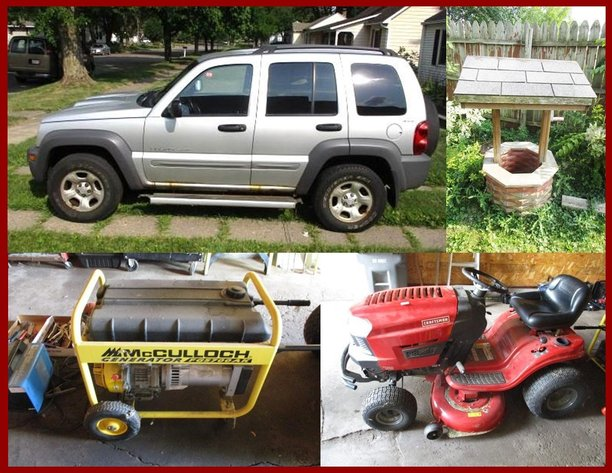 Allen Behrend Estate Jeep, Household, Furniture and Collectibles