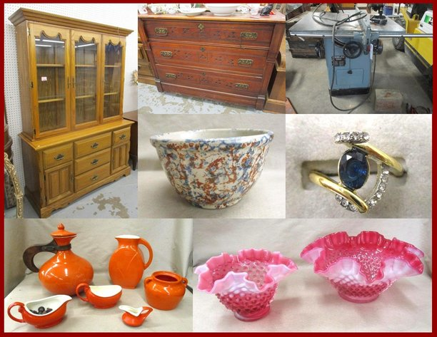 Furniture, Fine glassware and Antiques (pink tag)