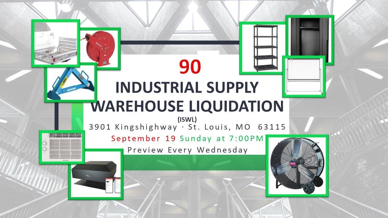 Industrial Supply Warehouse Liquidation #90
