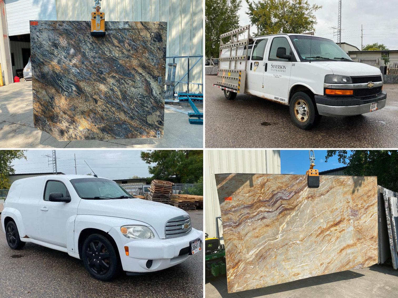 Commercial Vans, New Granite & Quartz Slabs & Remnants, New Floor Tile
