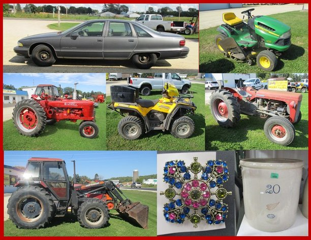 Vehicle, Tractors, Jewelry and Antiques