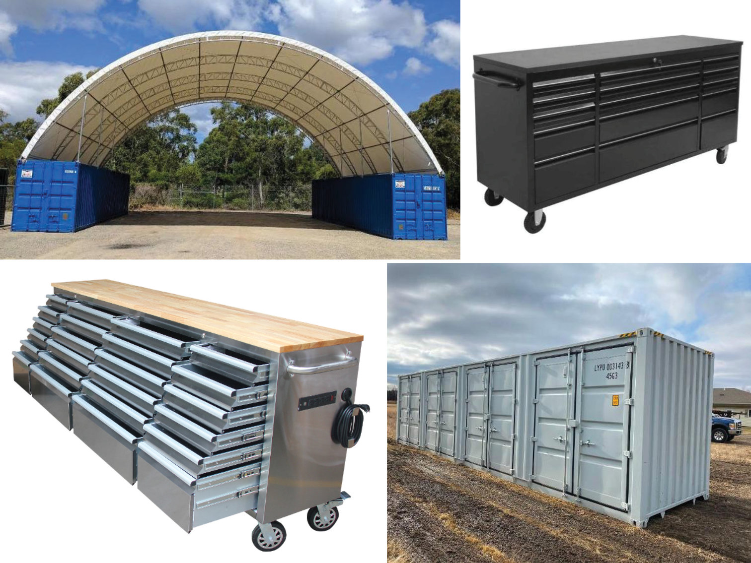 2020 40' Sea Container, New Tool Boxes, New Storage Buildings, New Shop Supplies