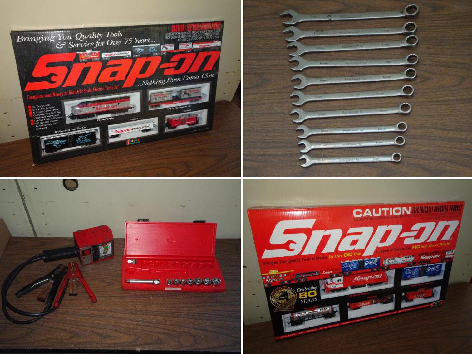 Snap On Memorabilia, Snap On Train Sets, Patio Door, Jump Packs & Tools
