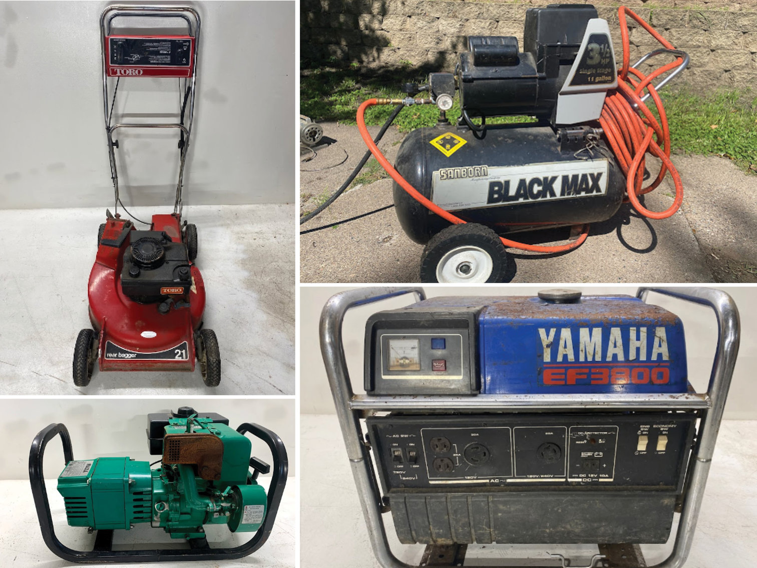 Personal Property Liquidation Auction: Small Engines, Tools and Vintage Items