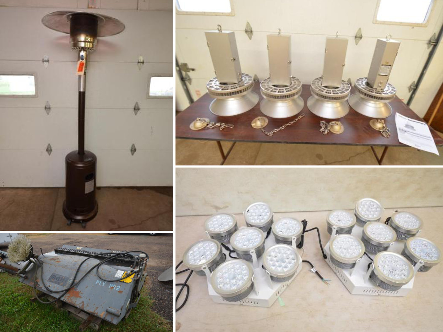 Commercial Light Fixtures, Fordson Tractors, Auto Parts, Fishing Tackle, and Furniture