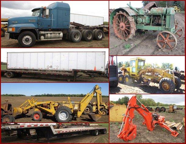 Cy Schmitz Estate Large Minneapolis Moline Collection, Semis & Heavy Machinery