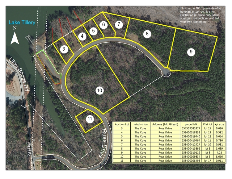 Waterfront Lake Tillery Lots, Acreage, Boat Slips and More